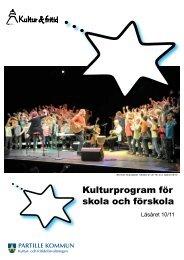 Kulturprogram för skola och förskola - Partille kommun