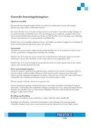 Generelle forretningsbetingelser - Proffice