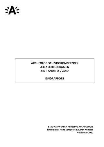 3 Sint Andries en Zuid_Eindrapport archeologisch vooronderzoek