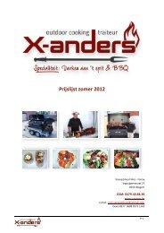 Prijslijst zomer 2012 - Traiteur & Homecooking X-ANDERS - Otegem