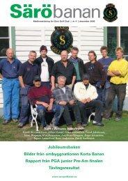 Jubileumsboken Bilder från ombyggnationen Korta ... - Särö Golf Club