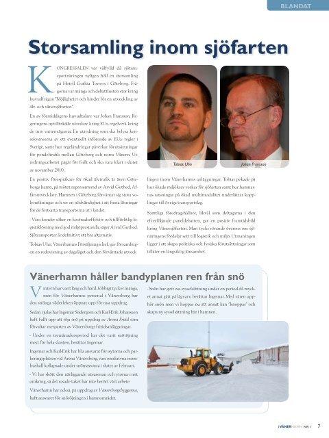 Ny transportör... - Vänerhamn AB