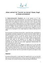 Advies omtrent het 'Voorstel van decreet Vlaams Jeugd- en ...