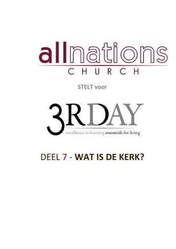 Wat is de Kerk? - All Nations Church - World Map Selection Page