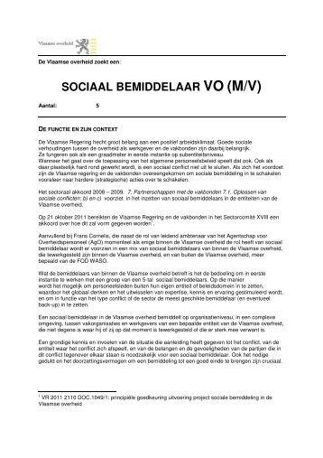 SOCIAAL BEMIDDELAAR VO (M/V) - Jobpunt Vlaanderen