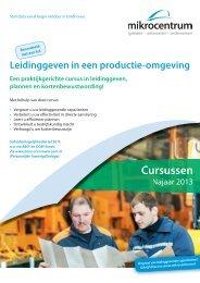 Leidinggeven in een productie-omgeving - Mikrocentrum