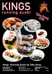 Donwlode MENU - Kings Running Sushi