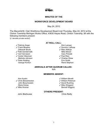 May 2012 (PDF) - Macomb/St. Clair Michigan Works!