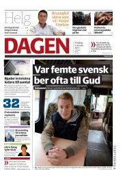 Var femte svensk ber ofta till Gud - Dagen