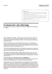 Læs Peter Harders bidrag - Produktivitetskommissionen
