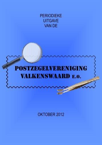oktober 2012 - Postzegelvereniging Valkenswaard