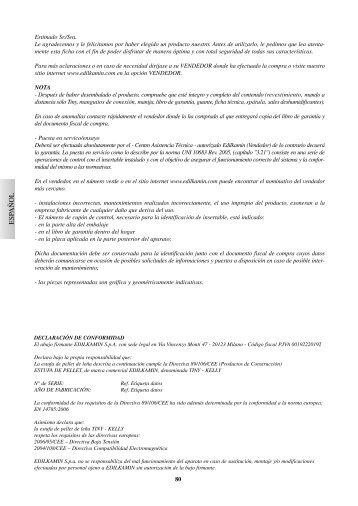 Manual Instrucciones Kelly - CHIMENEAS BIOMASA ...