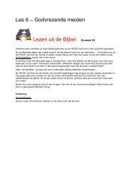 Les 6 – Godvrezende meiden Lezen uit de Bijbel ... - Bijbelverhalen