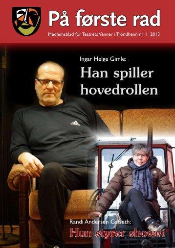 Medlemsblad nr: 01 2013 - Teatrets Venner