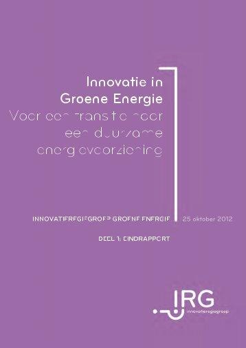 Eindrapport iRG Groene Energie deel 1 - rapport.pdf (3.33MB) - VRWI