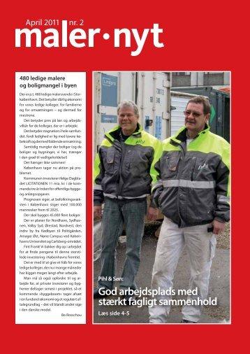 God arbejdsplads med stærkt fagligt sammenhold - Malernes ...