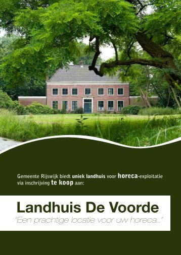Download de brochure - Landhuis De Voorde