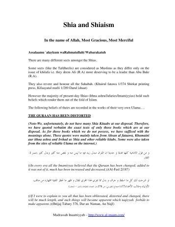 Shia and Shiaism - Rahnuma eBooks Library
