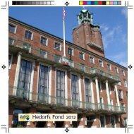 Årsberetning 2012 - Hedorfs fond