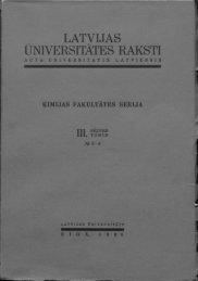 UNIVERSITĀTES RAKSTI - DSpace - Latvijas Universitāte