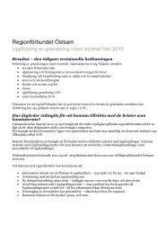Uppföljning rapporter - Regionförbundet Östsam
