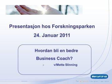 Mette Slinning - Bli en bedre coach - BCP 24.01 ... - Forskningsparken