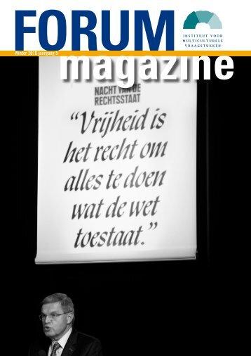 FORUM magazine, winter 2010, jaargang 5 - Forum, Instituut voor ...
