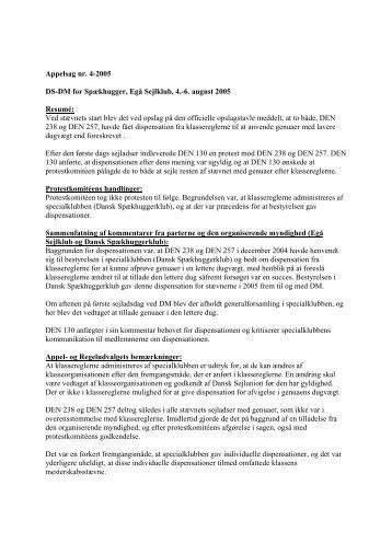 Appelsag 4-2005 - Dansk Sejlunion