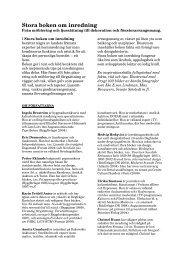 Stora boken om inredning - Infobooks