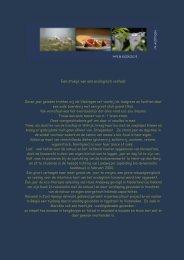Een stukje van ons ecologisch verhaal - B&B In Motion