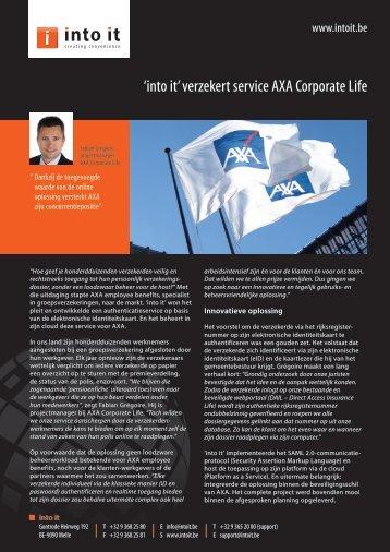 'into it' verzekert service AXA Corporate Life