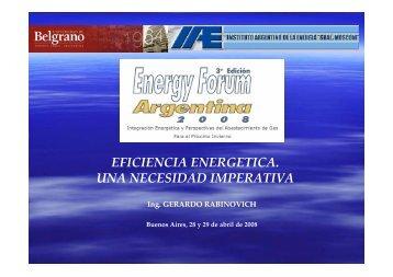 EFICIENCIA ENERGETICA. UNA NECESIDAD IMPERATIVA