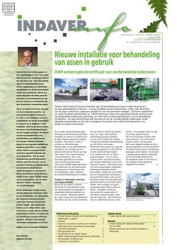 Nieuwe installatie voor behandeling van assen in gebruik - Indaver.be
