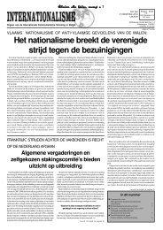 Het nationalisme breekt de verenigde strijd tegen de bezuinigingen