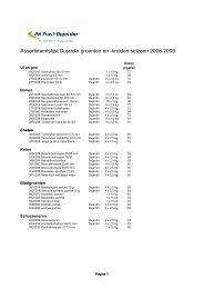 Dujardin Groenten seizoen 2008 - 2009 - Dujardin Foods
