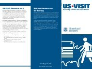 U.S. Department of Homeland Security, US-VISIT, Traveler Brochure ...