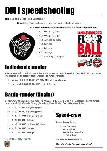 Se programmet for freestyle og speedshooting (pdf)