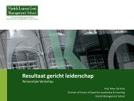 Resultaatgericht leiderschap - Vlerick Public