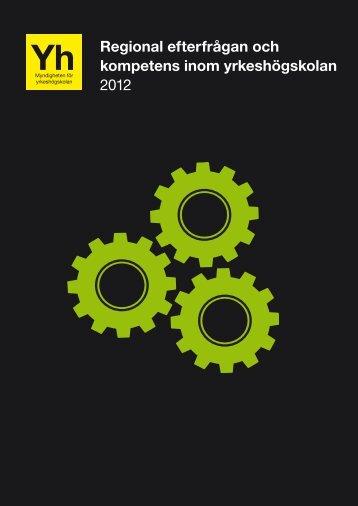 Regional efterfrågan och kompetens inom yrkeshögskolan 2012