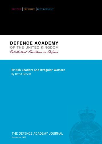 British Leaders and Irregular Warfare - Defence Academy of the ...
