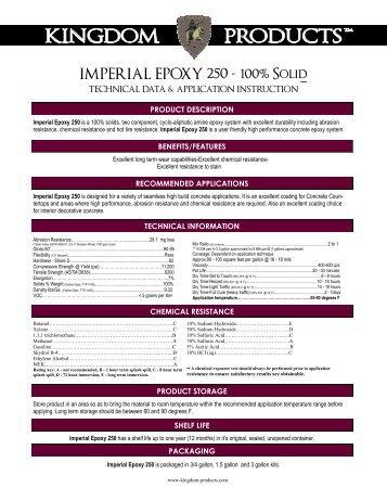 Imperial Epoxy 250 - Kingdom Products