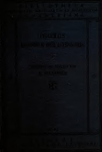 Des Claudius Ptolemus Handbuch der astronomie ..