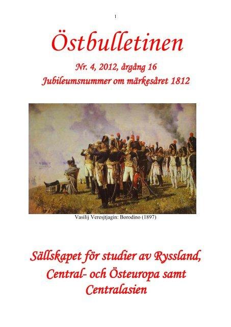 Nr 4, december 2012 - Sällskapet för studier av Ryssland, Central