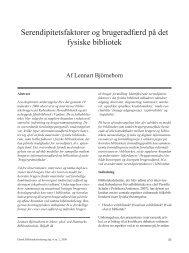 Serendipitetsfaktorer og brugeradfærd på det fysiske bibliotek