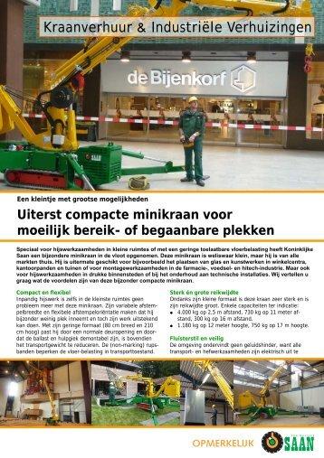 Leaflet minikraan - Koninklijke Saan