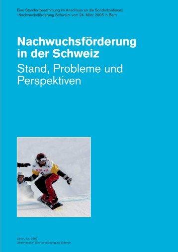Standortbestimmung Nachwuchsförderung - sportobs.ch