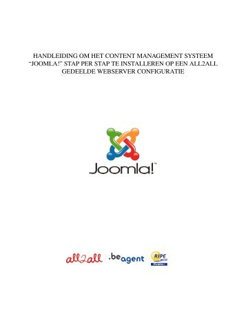handleiding om het content management systeem ... - All2All.ORG