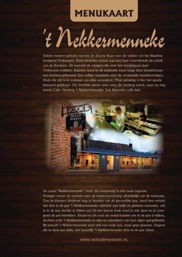A la carte menu 2013 - t Nekkermenneke