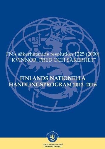 finlands nationella handlingsprogram 2012–2016 - Kopijyvä