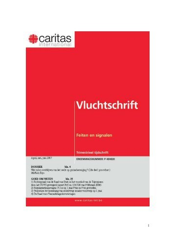 Vluchtschrift april - juni 2007 - Caritas International